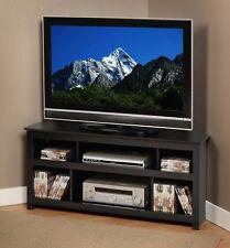 """48"""" Plasma LCD LED Corner TV Stand AV Console Black NEW"""