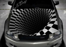 Abstract 3D Hood Full Color Graphics Wrap Decal Vinyl Sticker Fit any Car #116