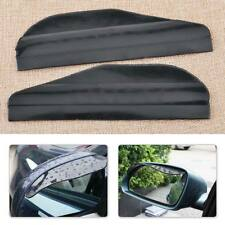 2x Black Car Auto Side Mirror Rearview Rain Visor Rear Guard Shade Shield Cover