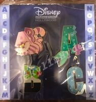 Disney DSF Alphabet Letters Series 1 Pin Set Ariel Buzz Cinderella Cheshire ABC
