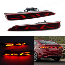 2x LED Car Rear Bumper Reflector Drive Brake Fog Light For Hyundai Accent 2018