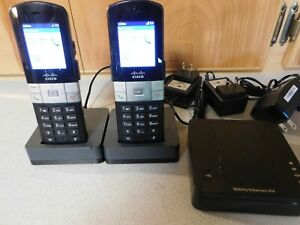 Cisco SPA232D, and (2) multi line handsets with bases SPA302D