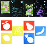 6 Pcs Kids DIY Animal Plastic Picture Drawing Template Stencils Rulers Painting