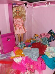 Lotto Barbie +abiti+ clothes case originali 80/90s  + omaggio vedi leggi