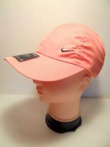 Nike Heritage86 Youth Kids Adjustable Hat Cap Pink Metal Swoosh AV8055-868 New