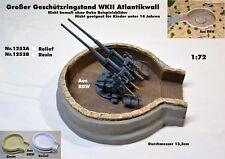 Neu Nr.1252B Großer Geschützringstand WKII Atlantikwall 1:72 für Diorama Resin