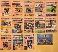 """Calcio- Inter- set 13 Cartoline completo """"Gazzetta dello Sport"""" Triplete 2009/10"""