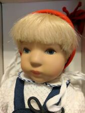 Kathe Kruse Doll  Joey in box EUC with certificate and stand