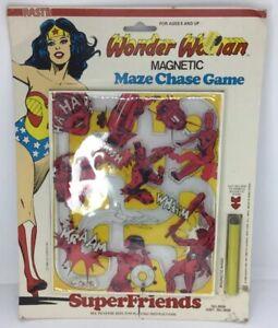 Wonder Woman Magnetic Maze Chase Game Nasta 1980 DC Comics MOC