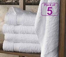 5x White Hotel Quality Bath Sheets | 100% Egyptian Cotton | 600 GSM | 100x180 CM