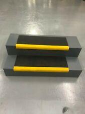 Anti-Slip GRP Heavy Duty Stair Tread Cover Black yellow nosing 700 x 250 x 40mm
