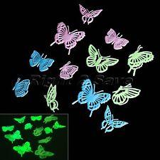 Butterflies Glow in The Dark Luminous Fluorescent Nursery Bedroom Wall Stickers