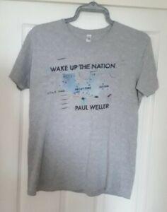 Paul Weller Wake Up The Nation T Shirt Medium Official Gildan Grey
