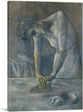 """Woman Ironing 1904 Canvas Art Print by Pablo Picasso 26""""x18"""" (.75"""" Deep)"""