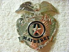 Andy Griffith Show SHERIFF Mayberry CAP BADGE Barney Fife Don Knotts prop