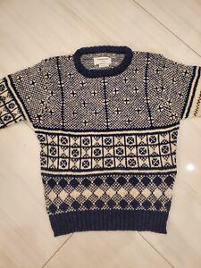 THOM BROWNE sweater icon Fair Isle  pullover Fair Isle patern size 3  NWT