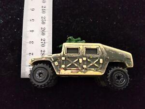 Vintage Hot Wheels car military HUMMER 1991 Camo humvee gattling gun diecast