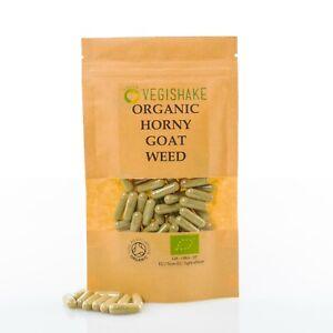 Organic Horny Goat Weed HPMC Icariin Capsules Linden Strength Sex/Libido Vegan