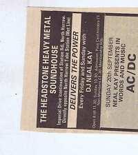 AC/DC  press clipping 1981 9x8cm (19/9/81)