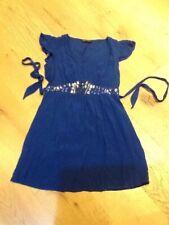 Dorothy Perkins Joya Vestido Talla 10 Azul Real