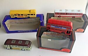 EFE Gilbow buses in mint condition in original packaging & 1 unidentified bus