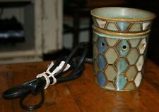 SCENTSY green blue white diamond pattern candle tart warmer electric