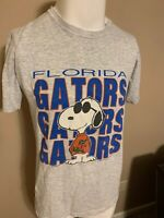 Vintage Florida Gators Snoopy Giant Spell Out Mens 70's T Shirt Medium M USA