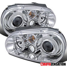 For 1999-2006 Volkswagen Golf GTI MK4 Clear Halo Projector Headlights w/ Fog