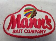 Vintage Mann's Bait Company Lures Embroidered Patch