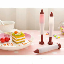 New 1 Silicone Syringe Piping Pen Icing Chocolate Cream Cup Cake Decorations