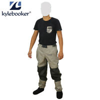 Fly Fishing Waders Pants Breathable Waist Trousers Waterproof Stockingfoot Wader