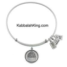 Wind & Fire Cupcake Disk Charm Silver Stackable Bangle Bracelet Made In USA