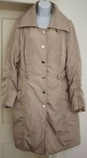 Patrizia Dini Beige Ruched Sleeve Lightweight Trench Coat - Size: 16