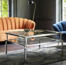 Frank Hudson Gallery Direct Salerno Silver metal and glass Coffee Table