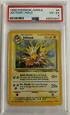 1999 Pokemon Jungle Jolteon Holo #4 PSA 4