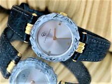 Auth Carrera y Carrera Caballos 205 SS/18K/Leather Quartz Women's Watch T#85489