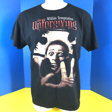 Within Temptation the unforgiving Heavy metal Band tee t shirt sz L Gothic Rock