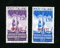 Trieste Stamps # 77-8 VF OG LH Catalog Value $45.00