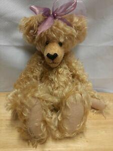 """Vintage Teddy Bear """"SISSY"""" 14"""" Bearly Legal Bears Artist Made Mohair"""