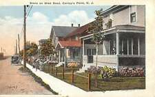 Carneys Point New Jersey Shell Road Street View Antique Postcard K58993