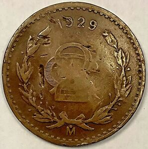 1929 Mexico 2 Centavos KM 419