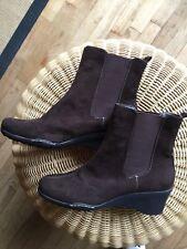 Aerosoles Women suede brown dark chocolate boots size 8
