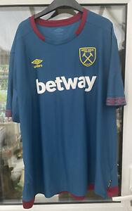 West Ham Away Shirt Adult 4XL