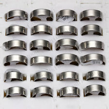 FREE wholesale lots 12ps Fashion Stainless Steel silver Men's Favor Jewelry Ring