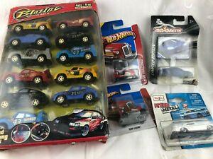 MODEL CARS-PACK OF 12 BLAZING RACING GAME-2 X HOT WHEELS, 1 MAJORETTE & 1 MAISTO