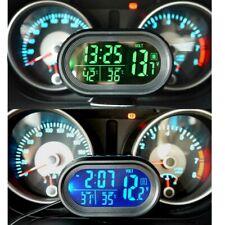 12-24V Car Digital LCD Temperature Clock Thermometer Voltage Meter Accessories