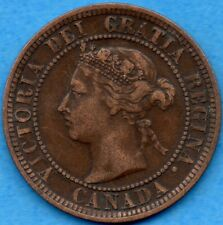 Canada 1888 1 Cent One Large Cent Coin - Very Fine