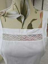 More details for vintage white pinafore apron