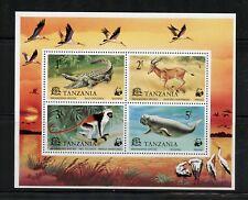 Tanzania 1977  crocodile dugong monkey fauna  WWF  sheet  MNH  N101