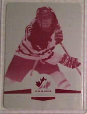 2014 UD Team Canada Juniors Printing Plate #31 Jayce Hawryluk 1/1 Magenta Plate